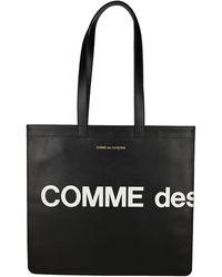 Comme des Garçons Huge Logo Tote Bag - Black