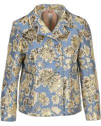 N°21 Floral Jacquard Blazer - Blue