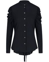 Ann Demeulemeester Gathered Sleeve Shirt - Black
