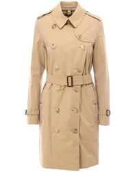 Burberry Kensington Heritage Belted Trench Coat - Natural