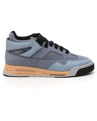 Maison Margiela Distressed High Top Trainers - Blue