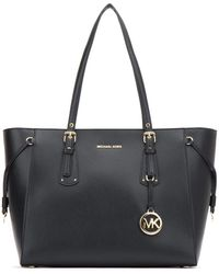 Michael Kors Voyager Md Multifunctional Tz Tote Admiral - Black
