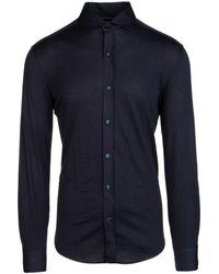 Brunello Cucinelli Slim Fit Shirt - Blue