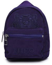 KENZO Kampus Tiger Embroidered Mini Backpack - Purple