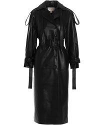 Matériel Double-breasted Belted Coat - Black
