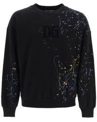 Dolce & Gabbana Splatter Print Sweater - Black