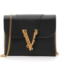 Versace Virtus Clutch Bag - Black