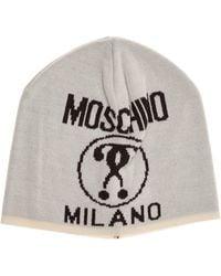 Moschino Men's Beanie Hat Double Question Mark - Multicolour