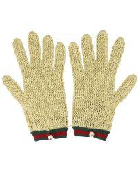 Gucci - Crochet Lurex Gloves - Lyst