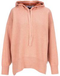 PROENZA SCHOULER WHITE LABEL Drop-shoulder Knit Hoodie - Pink