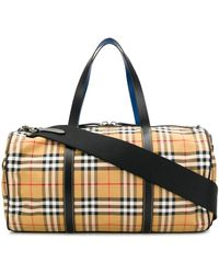 Burberry Kennedy Vintage Check Duffle Bag - Multicolor