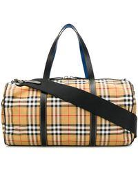 Burberry Kennedy Vintage Check Duffle Bag - Multicolour