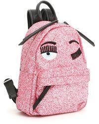 Chiara Ferragni Wink Glitter Backpack - Pink