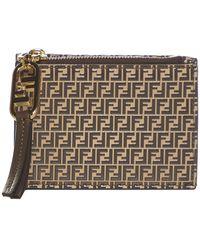 Fendi Ff Motif Leather Small Wallet - Multicolour