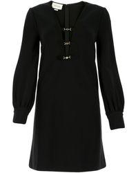 Gucci Deep V-neck Dress - Black