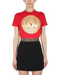 Versace Jeans Couture Crew Neck T-shirt - Red