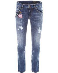 Dolce & Gabbana - Destroyed Stretch Denim Jeans - Lyst
