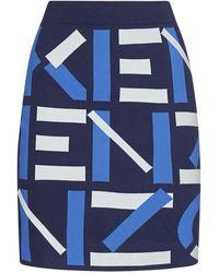 KENZO Sport Jacquard Monogram Mini Skirt - Blue