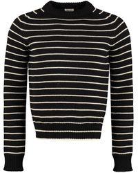 Saint Laurent Virgin Wool Jumper - Black