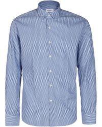 Ferragamo Patterned Sport Shirt - Blue