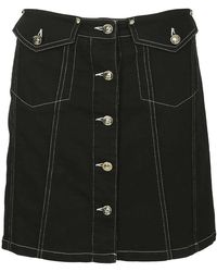 Versace Jeans Button-front Skirt - Black
