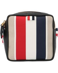Thom Browne Contrast Stripes Shoulder Bag - Multicolour