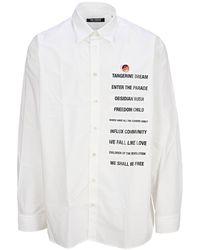 Raf Simons Text Patches Shirt - White