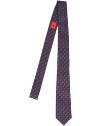Gucci Double G Anchor Tie - Blue