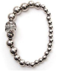 Alexander McQueen Skull Beaded Bracelet - Metallic