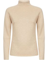 Max Mara High-neck Jumper - Natural