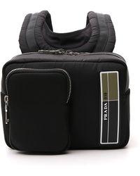 Prada Logo Mini Backpack - Black
