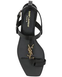 Saint Laurent Cassandra Flat Sandals - Black