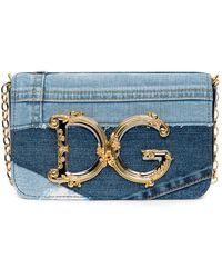 Dolce & Gabbana Dg Girls Patchwork Denim Clutch Bag - Blue