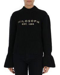 Philosophy Di Lorenzo Serafini Flared Sleeve Sweater - Black