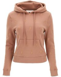 See By Chloé Hoodie With Monogram Embroidery Xs Cotton - Multicolour
