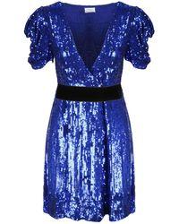 P.A.R.O.S.H. V-neck Sequined Dress - Blue