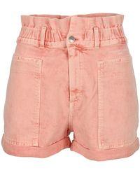 Stella McCartney High Waist Denim Shorts - Pink