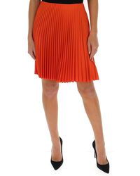 Theory Pleated Mini Skirt - Orange