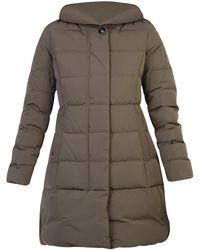 Woolrich Hooded Puffer Coat - Green