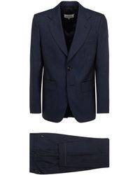 Maison Margiela Houndstooth Single-breasted Two-piece Suit - Blue
