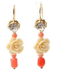 Prada Rose Earrings - Metallic