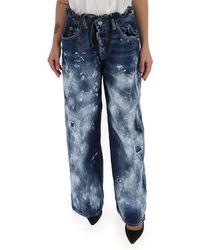 DSquared² Wide-leg Jeans - Blue