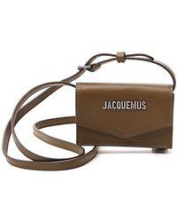 Jacquemus Le Porte Azur Strapped Cardholder - Green