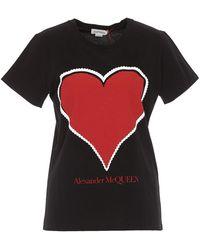 Alexander McQueen Graphic Heart T-shirt - Black
