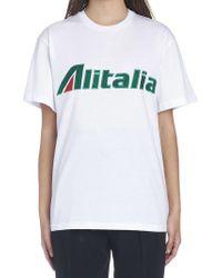 Alberta Ferretti - Alitalia T-shirt - Lyst