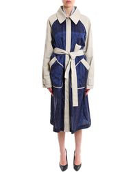 T By Alexander Wang - Two Tone Trench Coat - Lyst