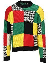 JW Anderson Cotton Patchwork Jumper - Multicolour