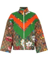 Gucci Flora Gg Supreme Print Tech Jersey Dress - Multicolour