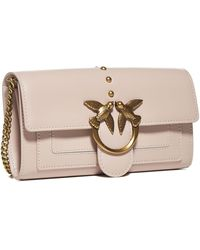 Pinko Love Simply Chain Wallet - Pink