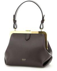 Khaite Small Agnes Top Handle Bag - Brown
